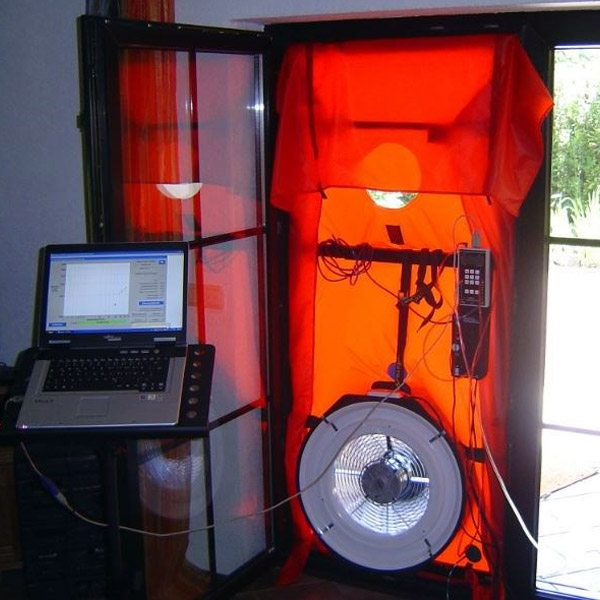 Blower door testing for the NCC